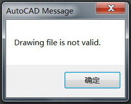 Drawing file is not valid